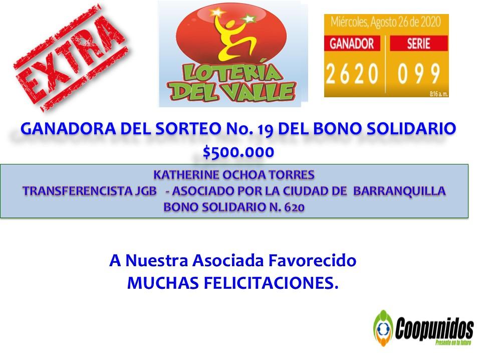 Sorteo No.19 del bono solidario