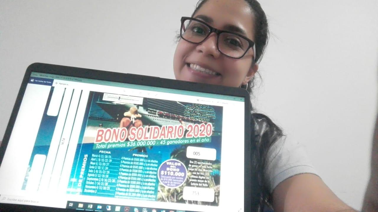 Ganadora de bono solidario