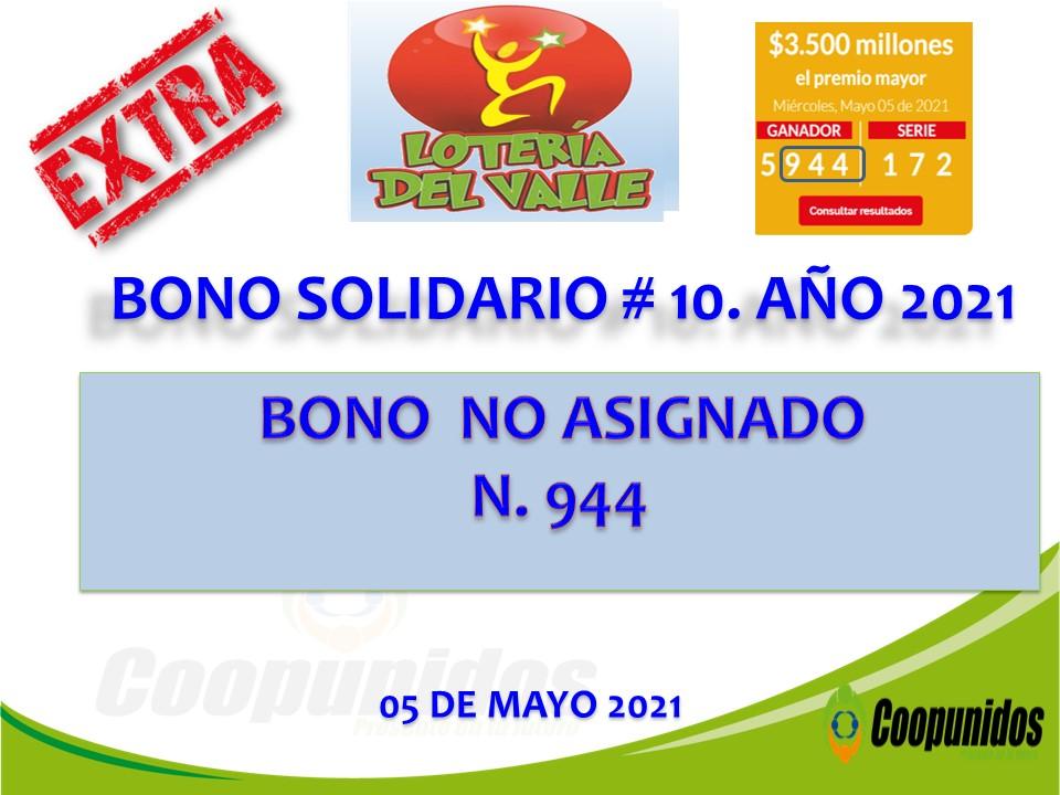 Bono solidario #10